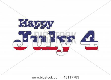 Happy July 4 Usa.