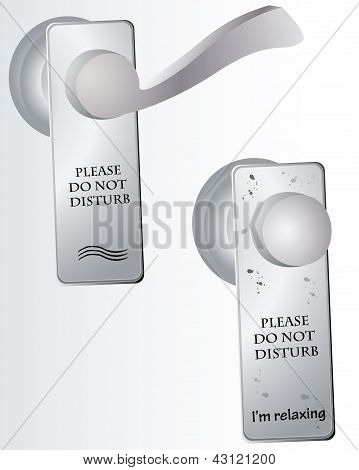 Do Not Disturb Sign On Door