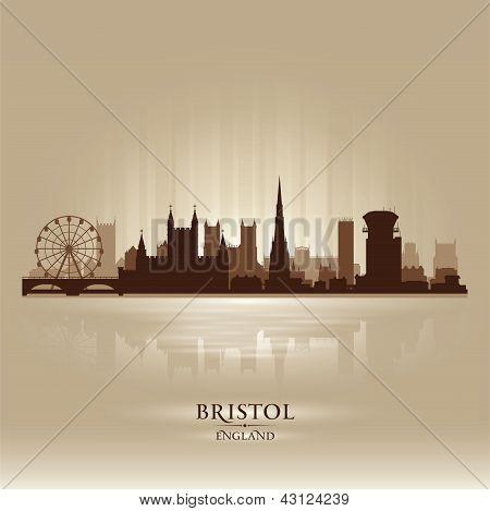 Bristol England Skyline City Silhouette