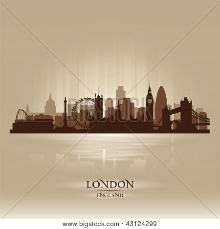 London England Skyline City Silhouette