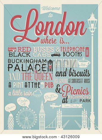 London Typographical Background
