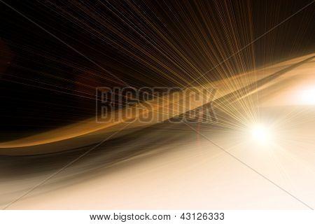Diseño de fondo de onda tecnología futurista con luces