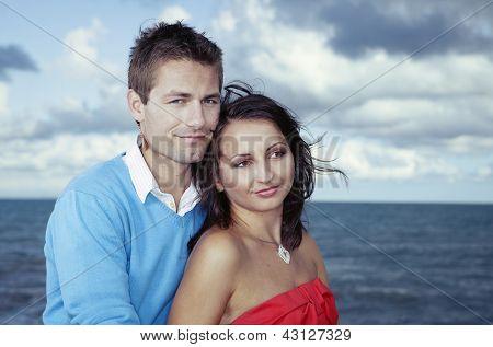 Couple posing for portrait