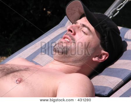 Man Sunbathe