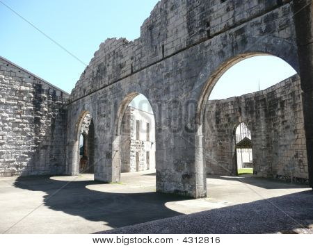 Arches Inside The Historic Trial Bay Gaol Nsw Australia
