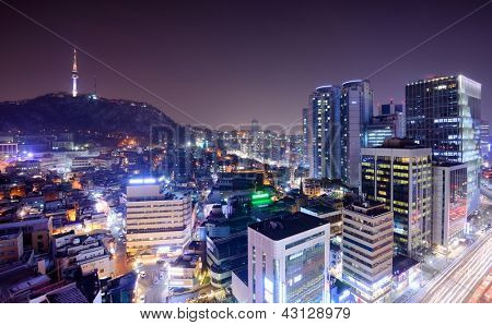 view of Seoul, South Korea