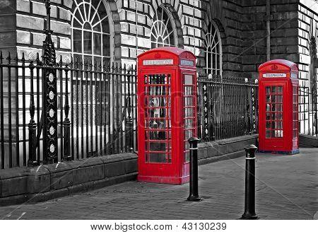 Traditional British Telephone Boxs