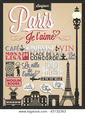 Paris Typographical Background