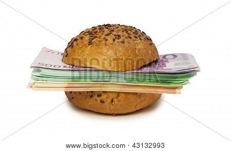 Hambúrguer com Euros