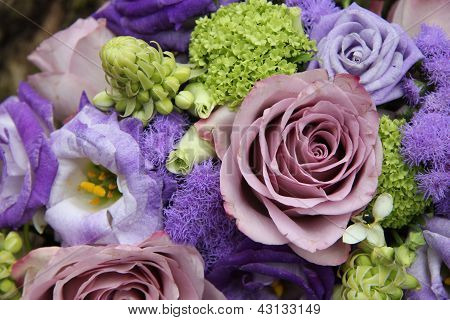 Bridal Arrangement In Different Shades Of Purple