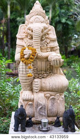 Thai Religious Figure In The Guise Of An Elephant