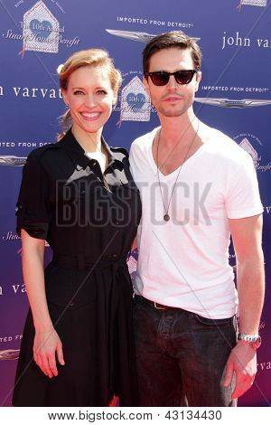 LOS ANGELES - MAR 10:  KaDee Strickland, Jason Behr arrive at the  10th Annual John Varvatos Stuart House Benefit at the John Varvatos Boutique on March 10, 2013 in West Hollywood, CA