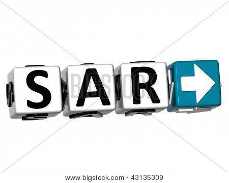 3D Saudi Arabian Riyal Currency Sar Button Click Here Block Text