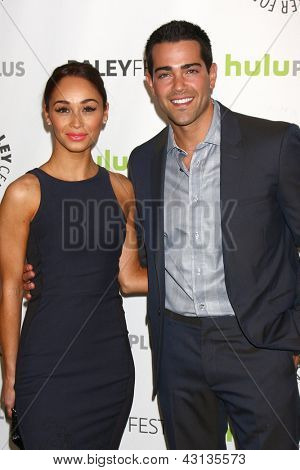 LOS ANGELES - MAR 10:  Carla Santana, Jesse Metcalfe arrive at the