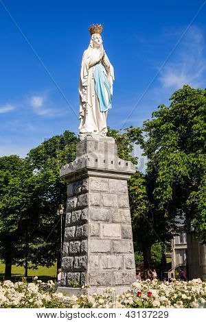 Statue Of Our Lady Of Lourdes