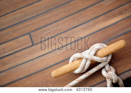 Sailing Knot On A Wooden Floor
