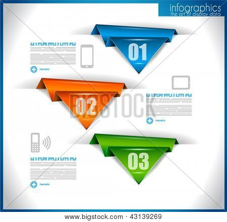 Infographic template for statistic data visualization. Modern composition to use like infochart, product ranking page or background for performance data graphics.