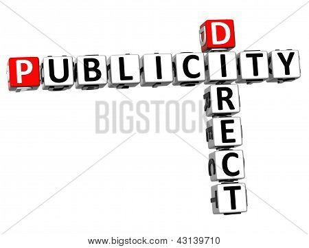 3D Direct Publicity Crossword
