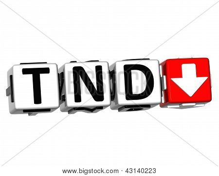 3D Tunisian Dinar Currency Tnd Button Click Here Block Text