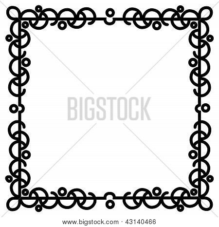 Abstract Curly Cartoon Border