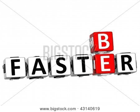 3D Be Faster Crossword