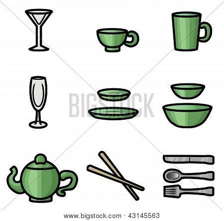 Dinner Utensils Icons