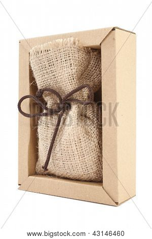 Burlap sack decorative packing
