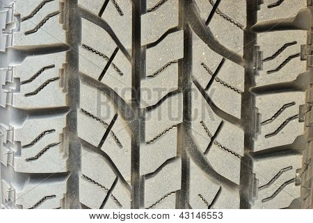 Close Up On Dirty Tire Foot Print Background