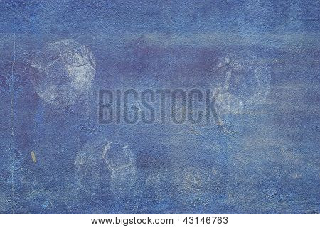The Old Blue Wall With Ball Print Texture Background
