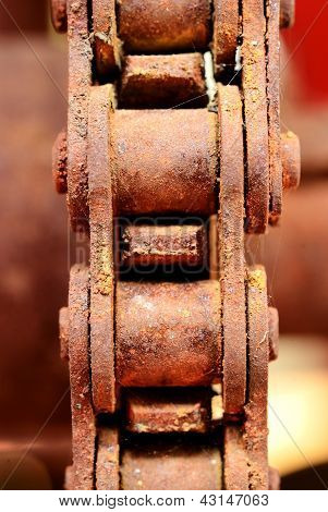 Close Up On The Old Chain