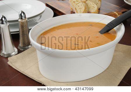 Large Serving Bowl Of Soup