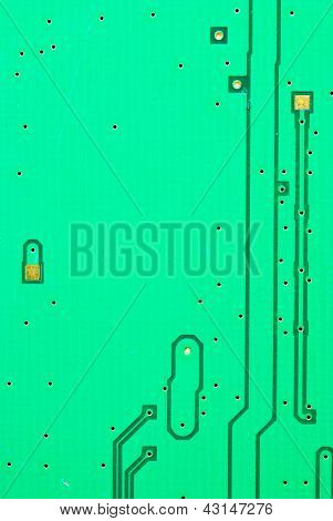 Close Up On A Ic Line Of The Old Electronic Circuit Boards  Background