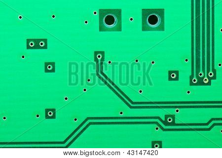 Close Up On Some Of The Old Electronic Circuit Boards  Background