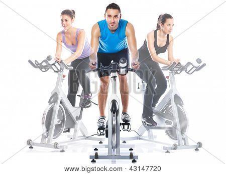 training riding on exercise bikes