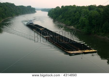 Coal Barge On Cumberland River