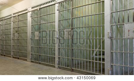 Bars Of A Prison With All The Doors Closed
