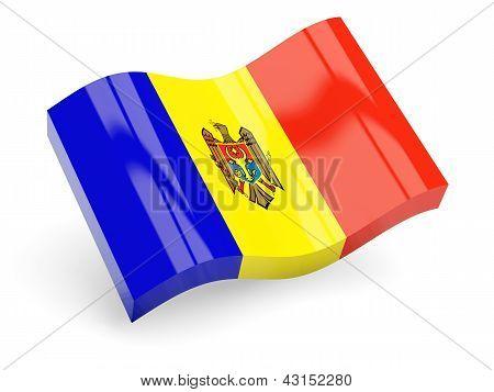 3d flag of moldova
