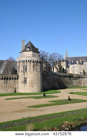 Circular Stone Tower Into Walls Of Vannes City
