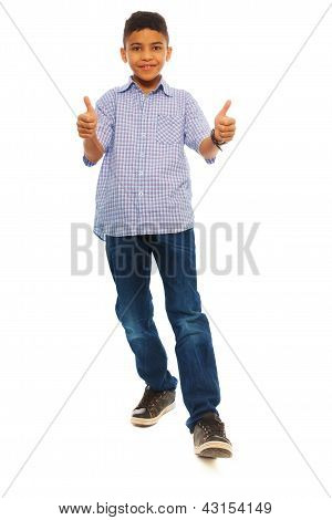 Black Boy Thumbs Up