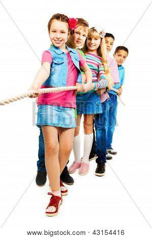 Kids Pulling Rope