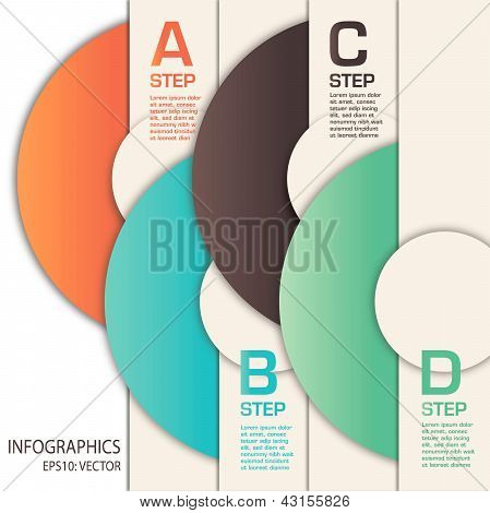 infographics template using circles