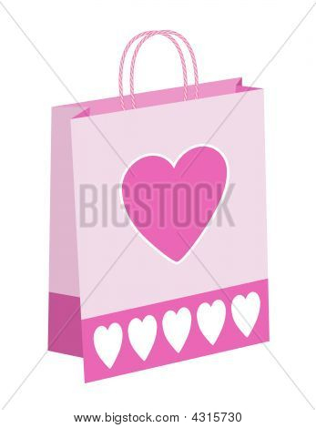 Hearts Shopping Bag