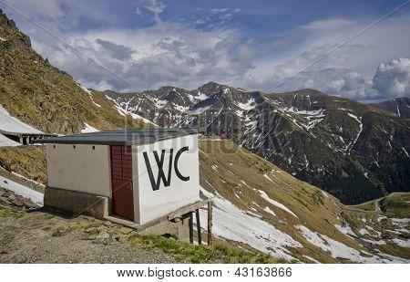 Toilette on mountain