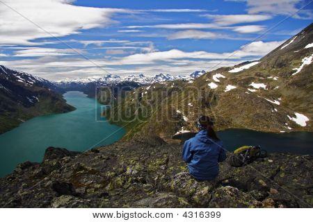 Panorama Break From Hiking