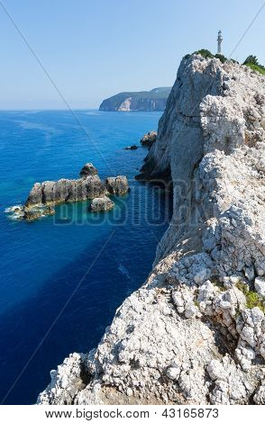 Rocky Cape Of Lefkas Island (greece)