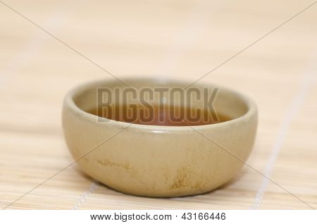 ceramic bowl with indian black tea