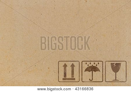 Brown Cardboard Texture With  Icons