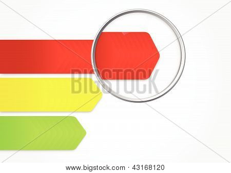 Magnifying Glasses Showing Speed bar