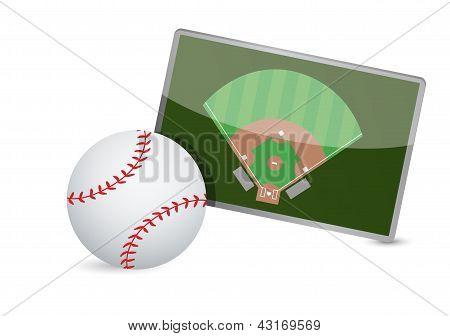 Baseball Field Tactic Table, Baseball Balls