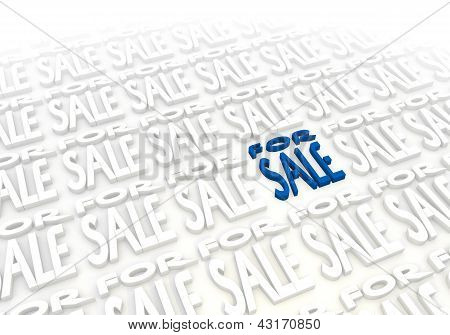 Elegant for sale pictogram in a stylish white background